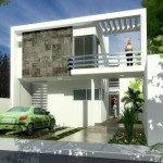 Fachadas de casas con cochera abierta