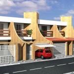 Fachadas de casas adosadas modernas