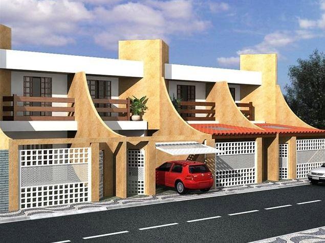 Fachadas de casas de dos plantas adosadas modernas