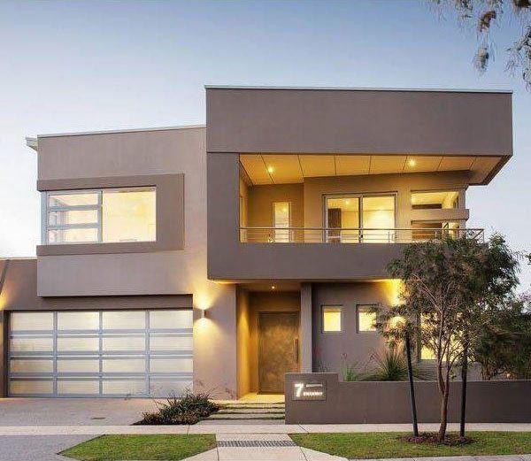 Fachadas de casas hermosas de dos pisos