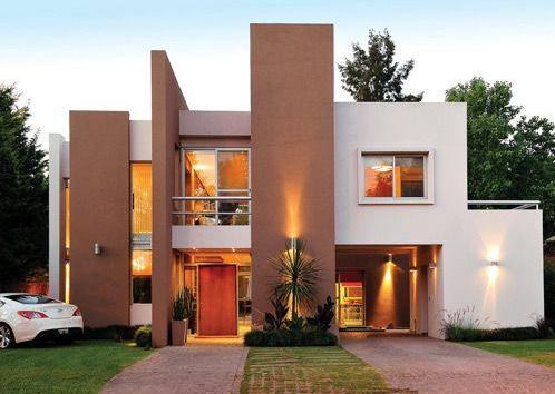Facades of beautiful houses