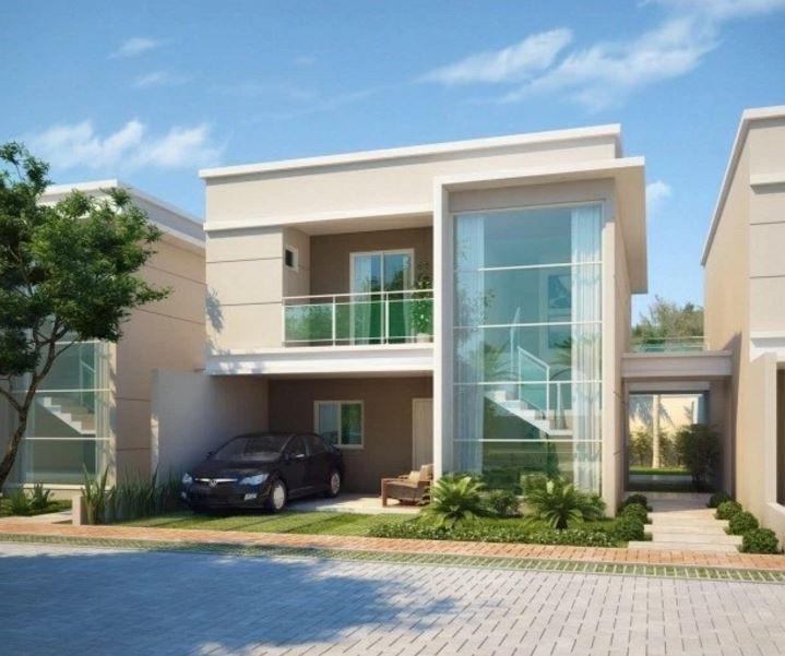 Fachadas de casas modernas con cocheras abiertas