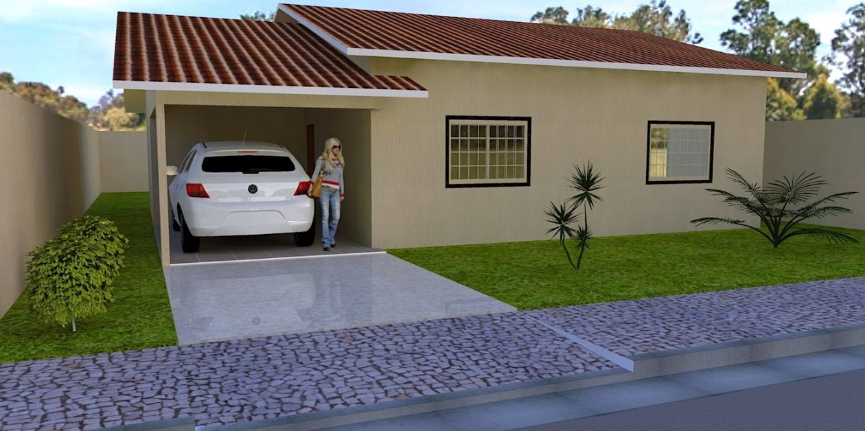 Imagenes de fachadas de casas modernas de un piso pequeñas