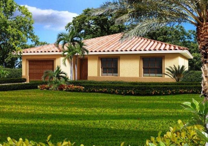 fachadas de casas con tejas coloniales