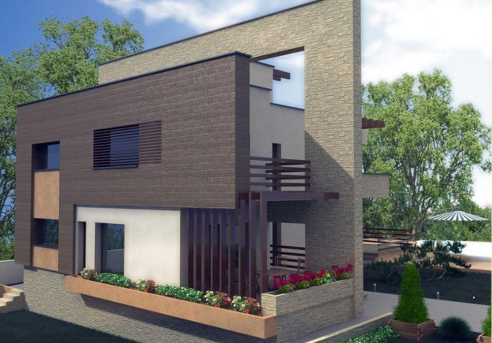 Casa con viga de concreto