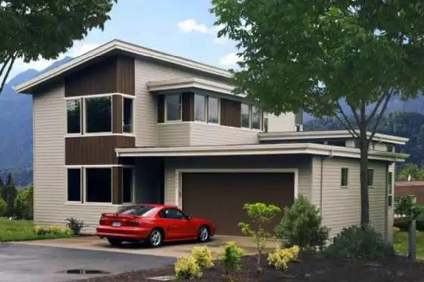 Casa de estilo americano de 200 metros cuadrados