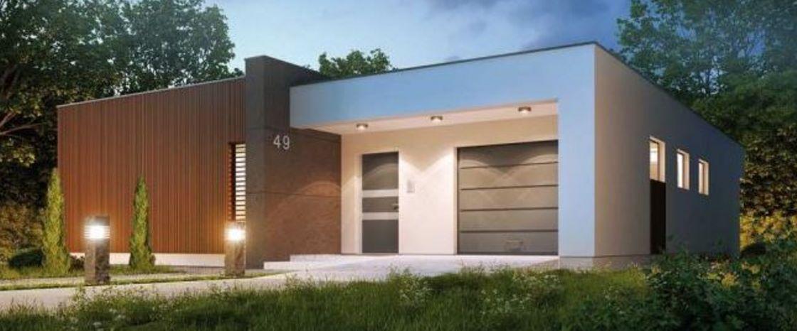 Casa moderna alta y de un solo piso