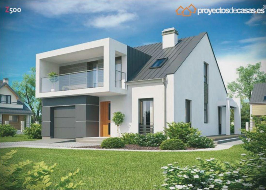Casa moderna de 5 dormitorios for Casas modernas normales