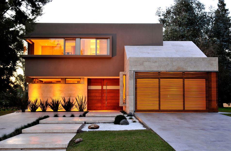 Casas con enchapes de piedra