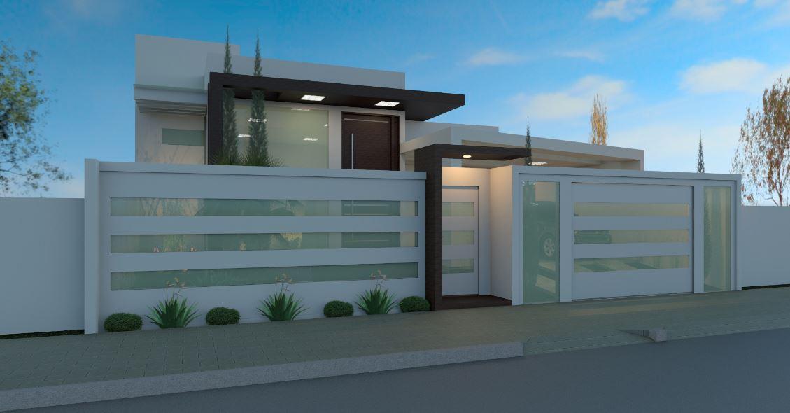 Fachadas de casas con cochera for Disenos de portones modernos