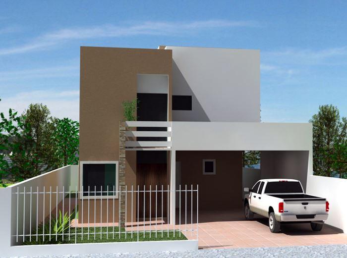 Diseños de cocheras abiertas para casas de dos pisos