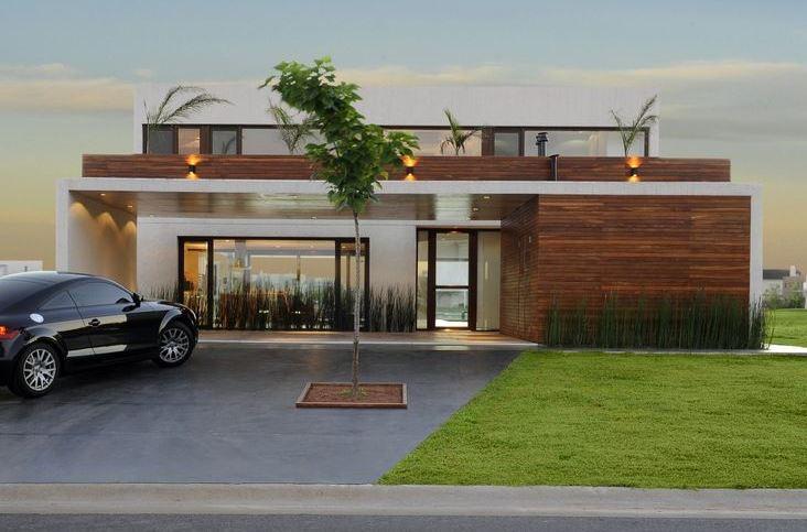 Fachadas de casas con cochera techada abierta for Cocheras minimalistas