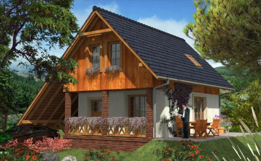 Fachadas de casas con techos de tejas for Modelos de techos para casas de dos pisos