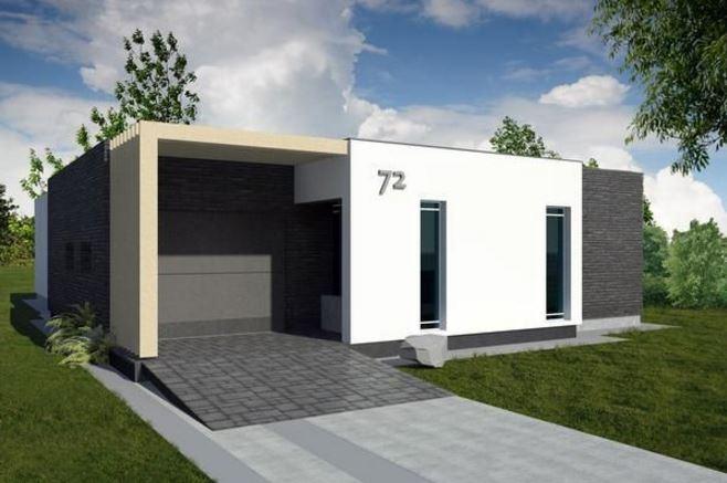 Fachadas de casas economicas for Casas contemporaneas de una planta