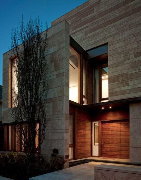 Fachadas de casas con enchapes de piedra