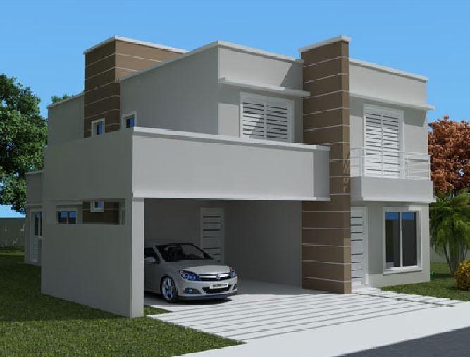 Fachadas de casas sencillas for Frentes de casas modernas de dos pisos