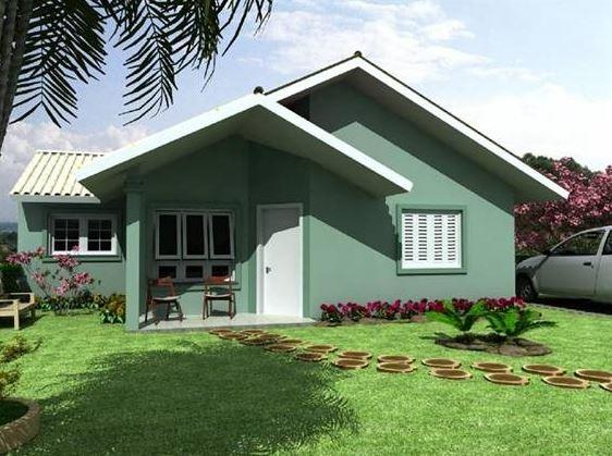 Fachadas de casas simples de un piso