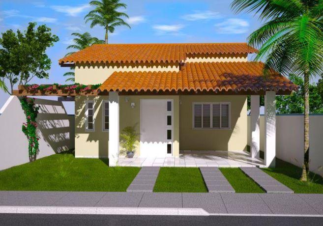 Fachadas de casas simples fotos