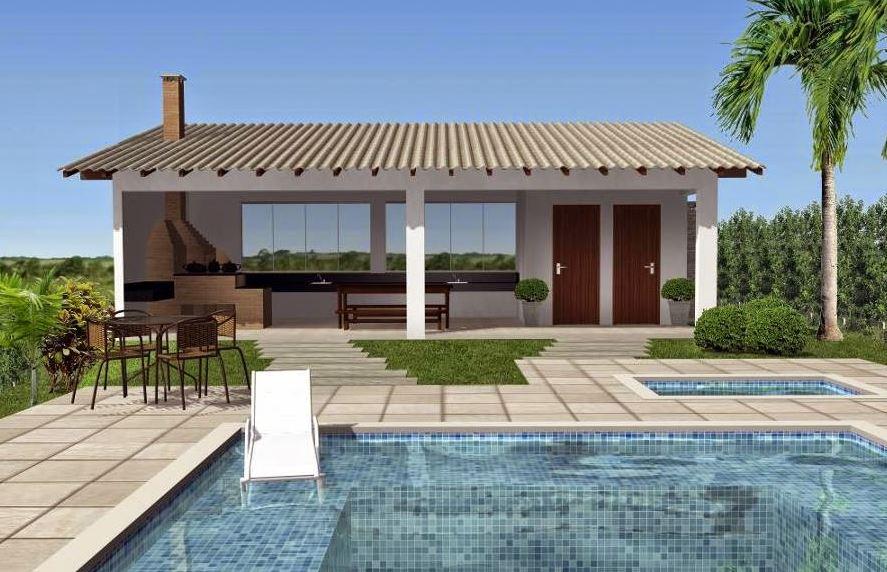 Fachadas para piscinas modernas