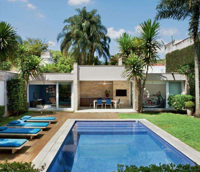 Fachadas para piscinas