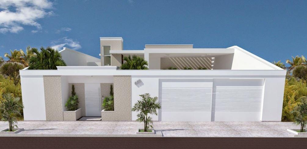 Frentes de casas con muros