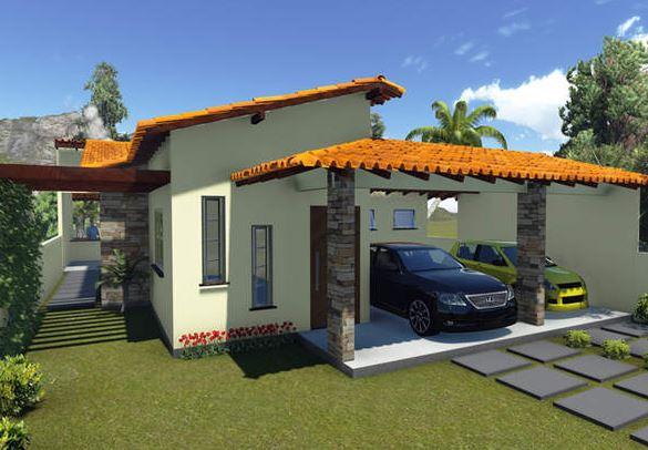 Frentes de casas sencillas con galerias y columnas