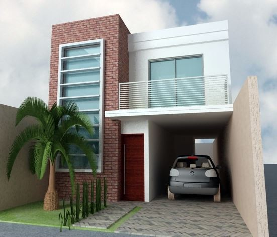 fachadas de casas modernas de 2 plantas