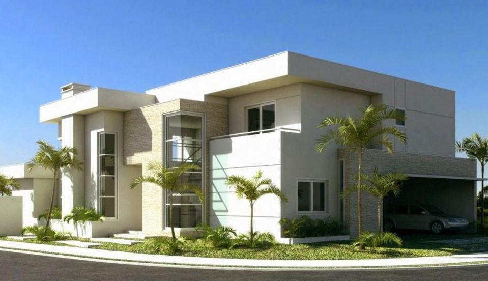 Modelos de casas esquineras modernas grandes