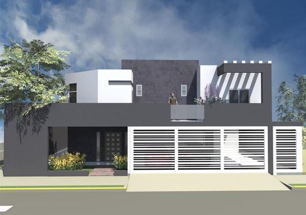 Portones de casas con rejas horizontales