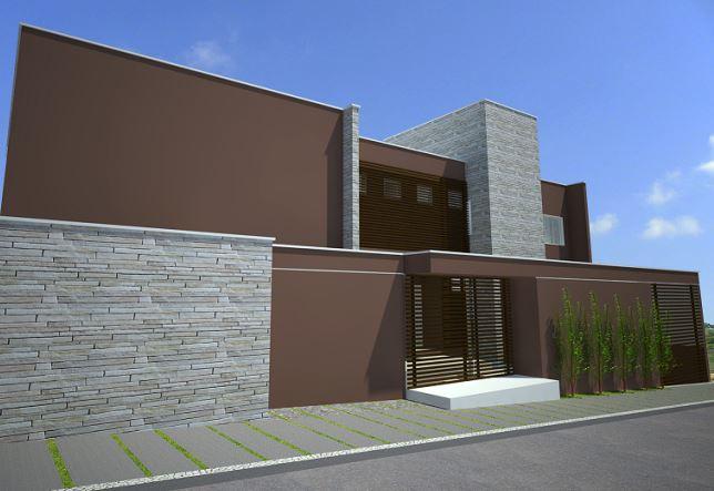 Fachadas de casas con rejas y portones - Casas diseno moderno ...