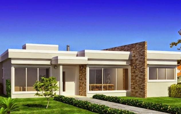 Fachadas de casas bonitas y sencillas for Colores para frentes de casas modernas