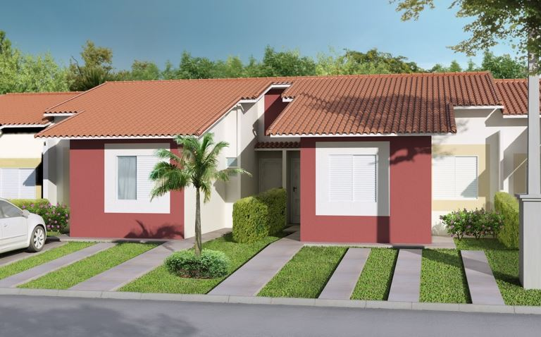 Fachadas de casas bonitas y sencillas for Ideas economicas para decorar una casa pequena