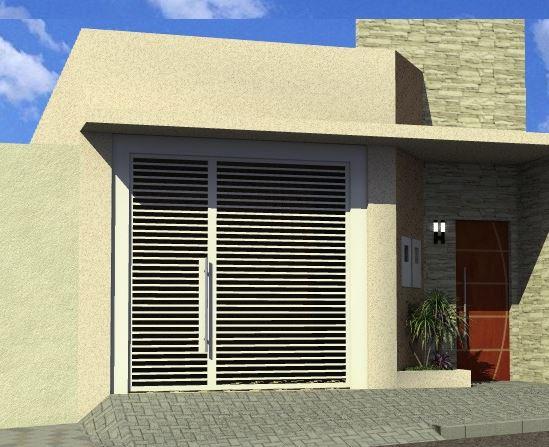 fachadas de casas simples con garage