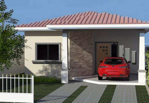 fachadas simples para casas pequenas