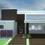 Fachadas de casas con techo plano