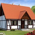 Fachada de casa clásica rústica
