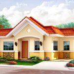 Fachada de casa con tejas y detalles