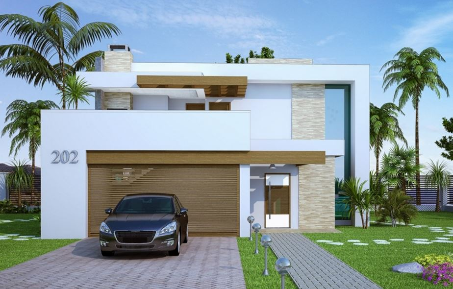 Fachadas de casas sencillas for Fachadas de casas modernas pequenas de 2 pisos