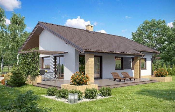 Casas con techo de chapa a dos aguas for Tirol en techos de casas
