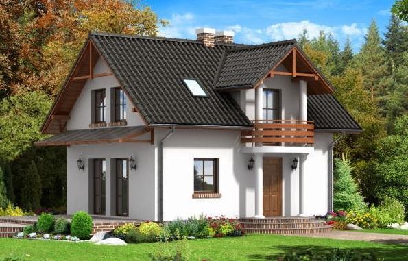 Fachadas de casas con claraboya