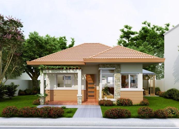 Fachadas de casas bonitas y sencillas for Modelos de fachadas de casas de una planta