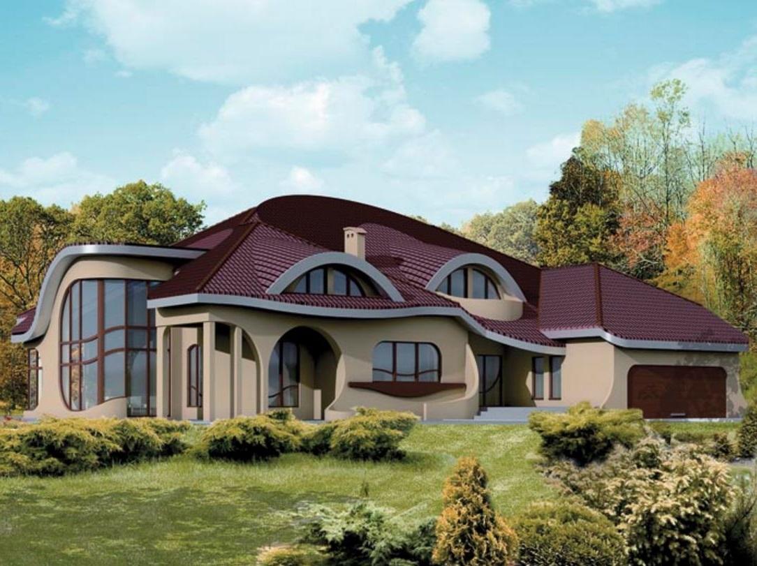 Fachadas de casas curvas