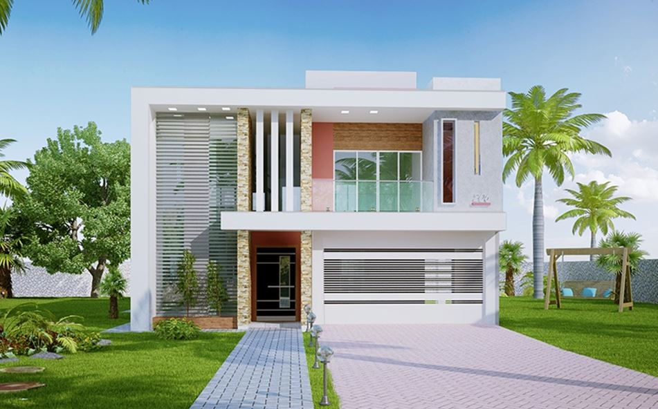 Fachadas de casas pequenas tipos e plantas holidays oo for Modelos de frentes de casas