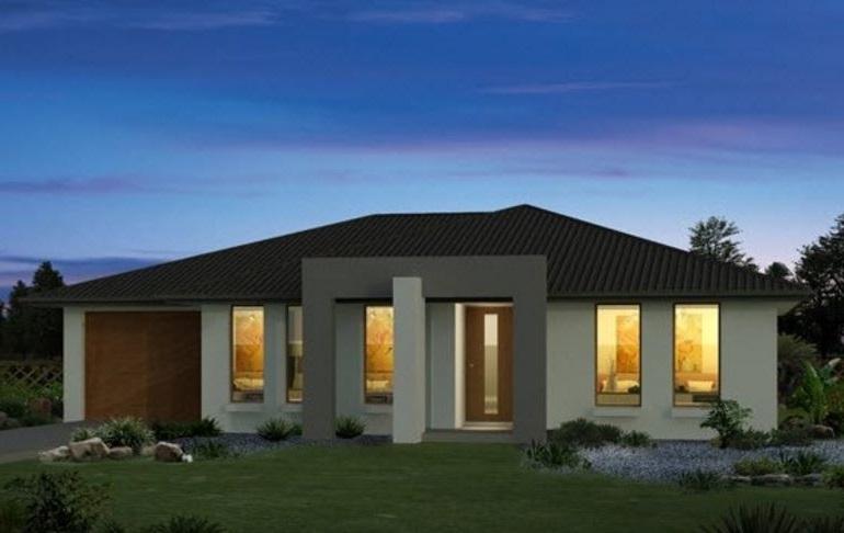 Fachadas de casas de un piso