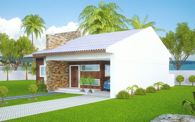 Fachadas de casas con techo a dos aguas Fachadas para casas de dos plantas