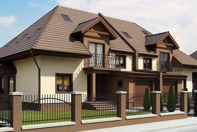 Fachadas de casas modernas con tragaluz