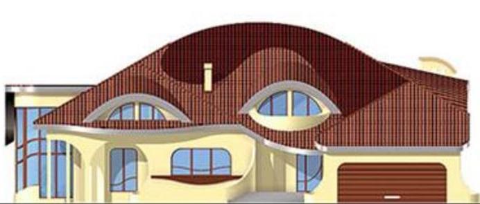 Lateral fachada de casa curva
