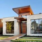 Fachadas de casas con techos volados