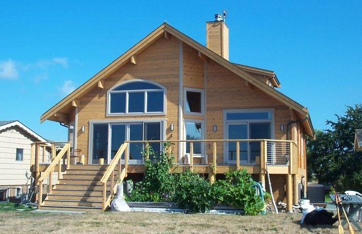 fachadas de casas hechas con madera