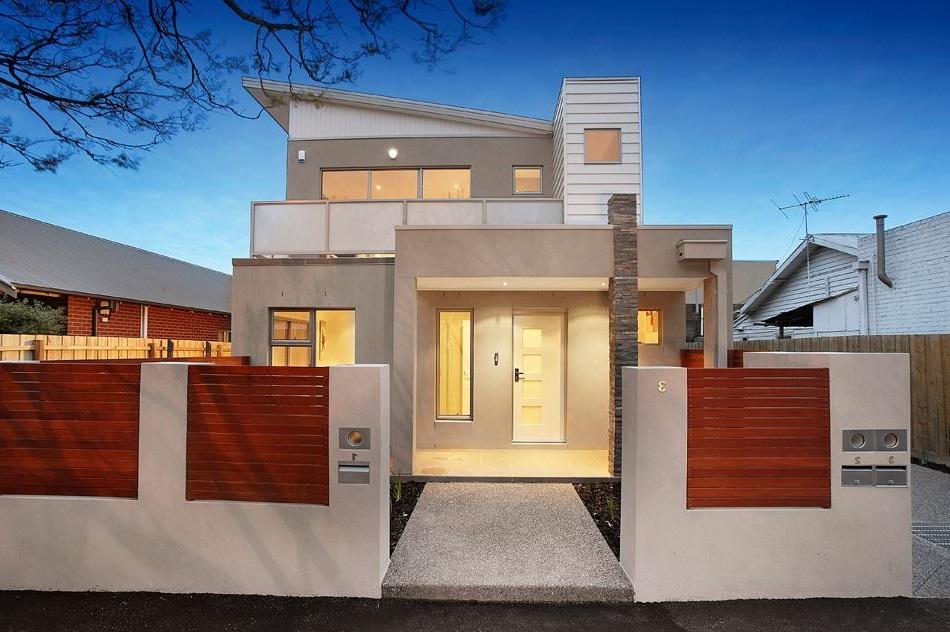 Casas modernas de 2 pisos for Modelos de techos para casas de dos pisos